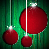Christmas Balls - Grunge Background