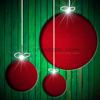 Christmas Balls - Grunge Background