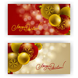 Christmas Background with baubles for inviations