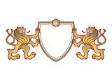 two lion shield
