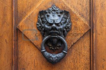 Old door knocker in Florence