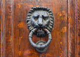 Old door knocker in Florence