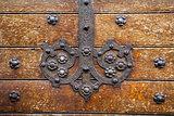 Old door metallic decoration