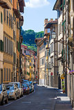 Typical street in Florence city