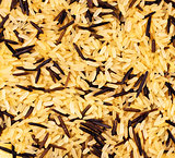 yellow and black wild rice blend