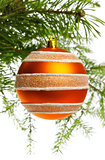 decoration ball on fir branch