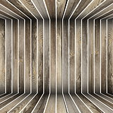 abstract 3d wooden structure