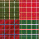 Four different seamless checkered patterns