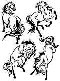 set of horses tattoo