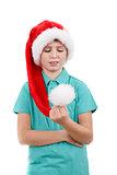 happy santa teenager