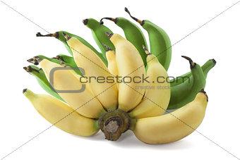 green and yellow banana