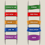 Colored vertical web bookmarks background