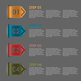 Colorful bookmarks steps for tutorial