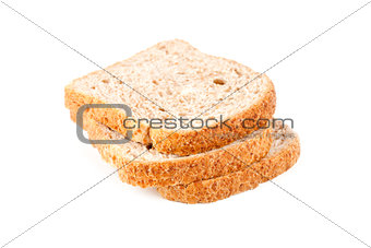 three slices of fresh bread
