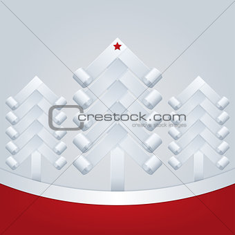 Fir-Trees. Christmas Greeting Card