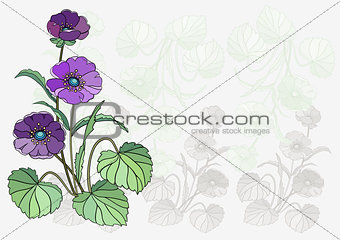 Abstract flower with background