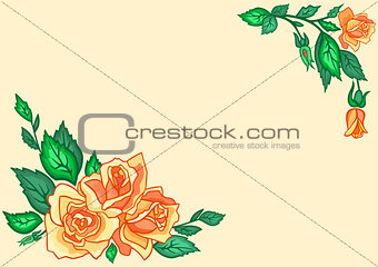 Abstract tea roses