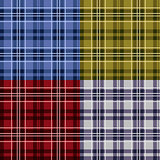 Four seamless checkered tartan patterns