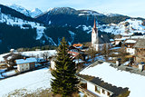 Mountain Liesing village in Lesachtal (Austria).