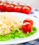 Delicious spaghetti with tomato