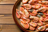 shrimps on plate