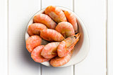 boiled shrimp in bowl