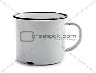 old metal mug