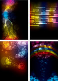 Set of Abstract Rainbow Backgrounds
