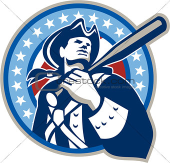 American Patriot Baseball Bat Retro