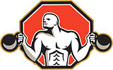 Strongman Lifting Kettlebell Front Retro