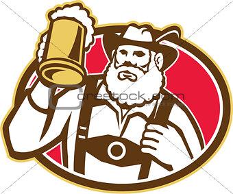Bavarian Beer Drinker Mug Retro