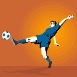 Soccer Player Kicking