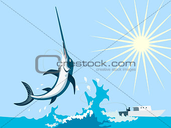 Swordfish Jumping