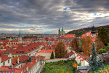 View from Prague castle on autumn Prague