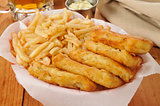 Fish sticks and french fries
