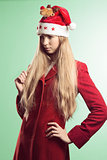fashion woman with funny christmas style