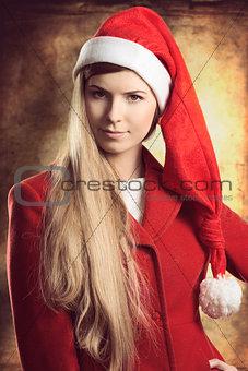 christmas portrait of fashion girl
