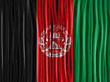 Afghanistan Flag Wave Fabric Texture Background