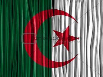 Algeria Flag Wave Fabric Texture Background