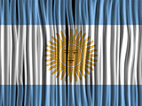 Argentina Flag Wave Fabric Texture Background