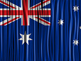 Australia Flag Wave Fabric Texture Background