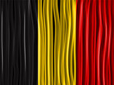 Belgium Flag Wave Fabric Texture Background