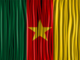 Cameroon Flag Wave Fabric Texture Background