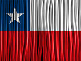 Chile Flag Wave Fabric Texture Background