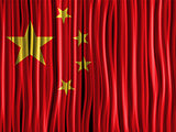 China Flag Wave Fabric Texture Background