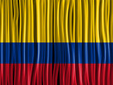 Colombia Flag Wave Fabric Texture Background