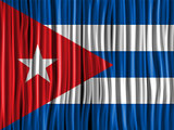 Cuba Flag Wave Fabric Texture Background