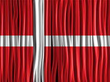 Denmark Flag Wave Fabric Texture Background