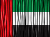 Emirates Flag Wave Fabric Texture Background