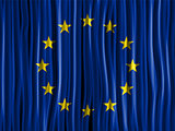 Europe Flag Wave Fabric Texture Background